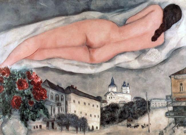 Marc Chagall. 'Nude above Vitebsk' 1933