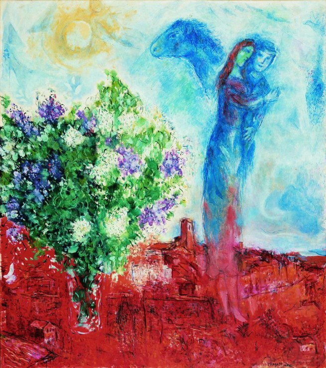 Marc Chagall. 'Lovers over Saint-Paul' 1968