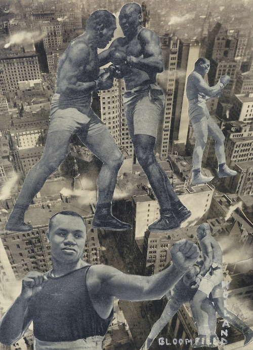 Erwin Blumenfeld. 'Boxers over New York' 1920