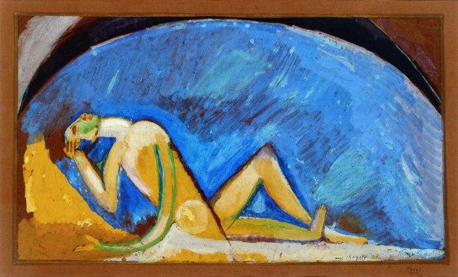 Marc Chagall. 'Figura davanti alla volta blu' 1911