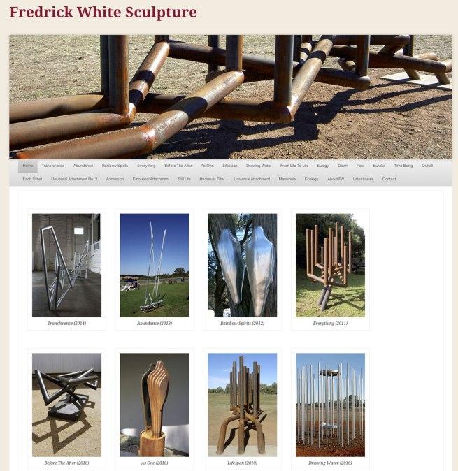 Fredrick White Sculpture website