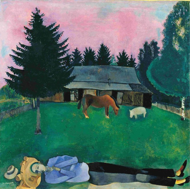 Marc Chagall. 'The Poet Reclining' 1915
