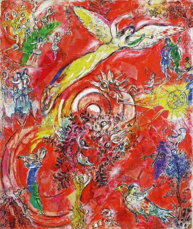 Marc Chagall. 'Il trionfo della musica - Maquette per il murale Metropolitan Opera, Lincoln Art Center, New York' 1966