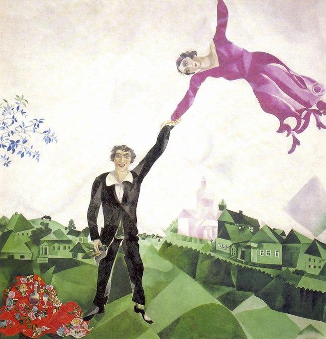 Marc Chagall. 'La passeggiata' (The walk) 1917-1918