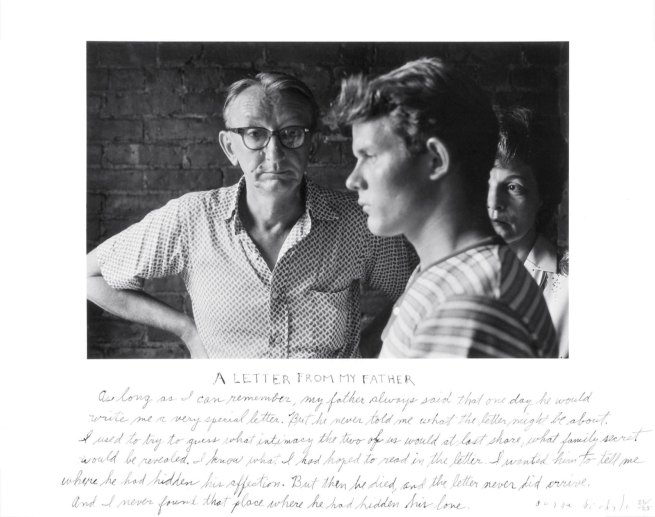 Duane Michals. 'A Letter from My Father' 1960/1975