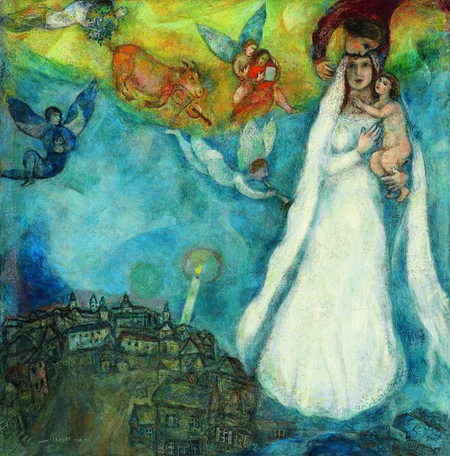 Marc Chagall. 'The Madonna of the Village' 1938-1942