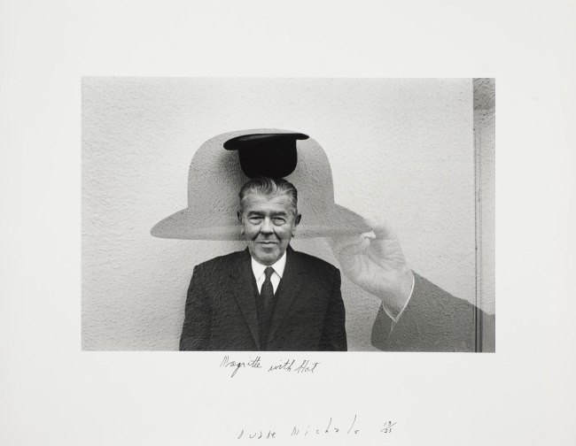 Duane Michals. 'Magritte with Hat' 1965