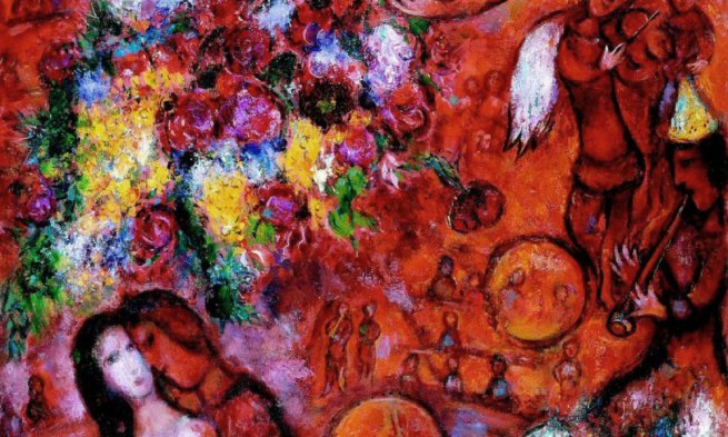 Marc Chagall. 'The Red Circus' 1956-1960