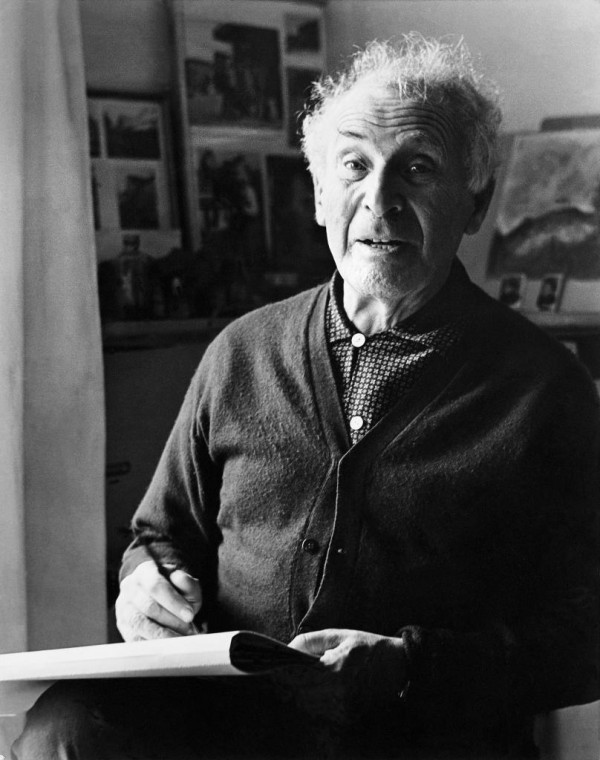 Marc Chagall in his studio of Saint-Paul de Vence
