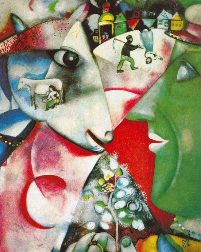Marc Chagall. 'I and the village' 1911