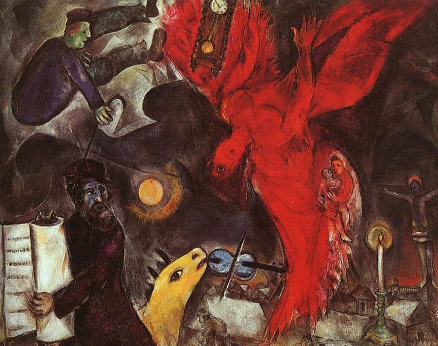 Шагал ((картины( Marc_chagall_024_angelo_cadente_1923-web