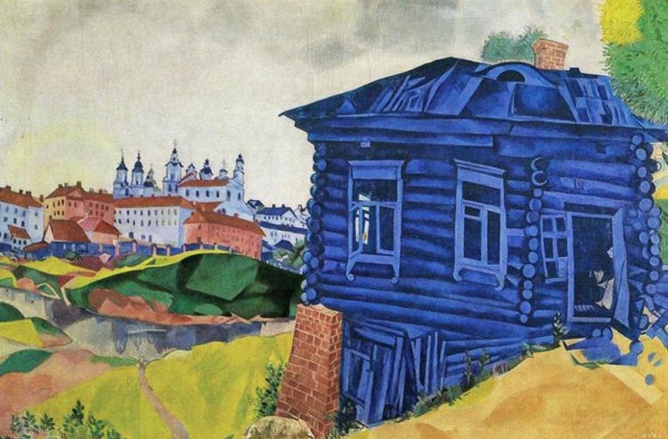Шагал ((картины( Marc_chagall_046_la_casa_blu_1917-web