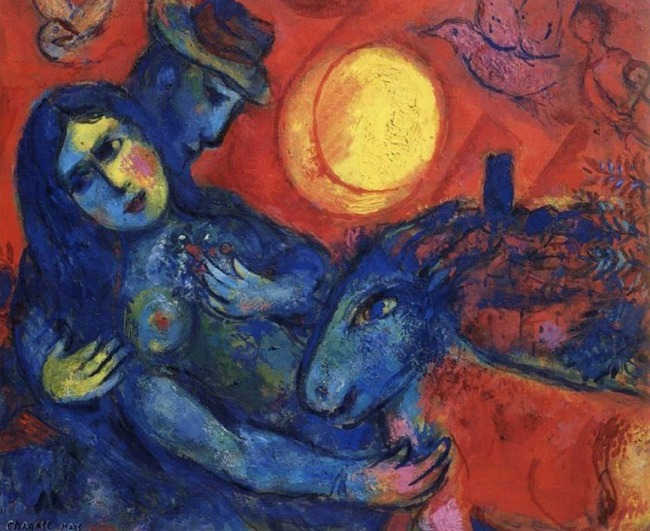 Marc Chagall. 'Big Sun' 1958