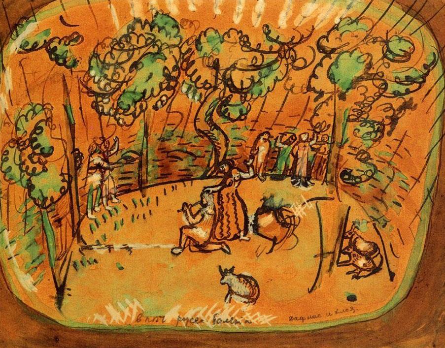 Шагал ((картины( Marc_chagall_dafne_e_cloe_1911-web