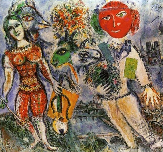 Marc Chagall. 'The Players' (i giocatori) 1968