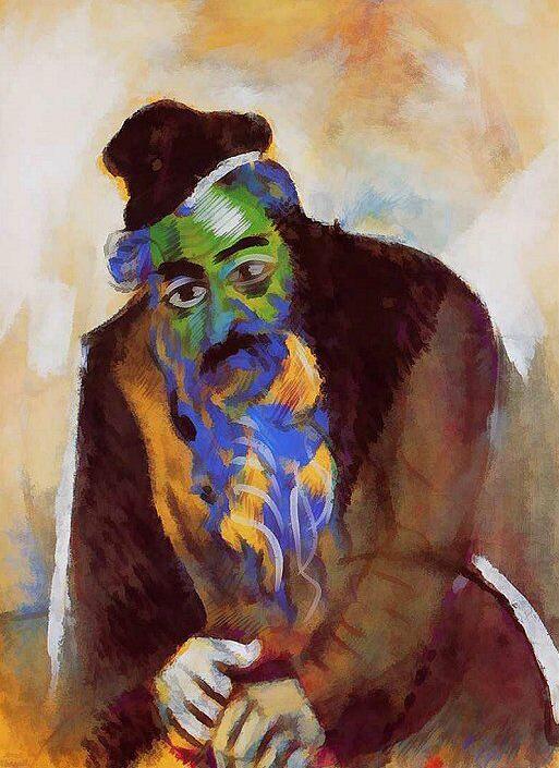 Marc Chagall. 'The Old Jew' (il vecchio ebreo) 1912