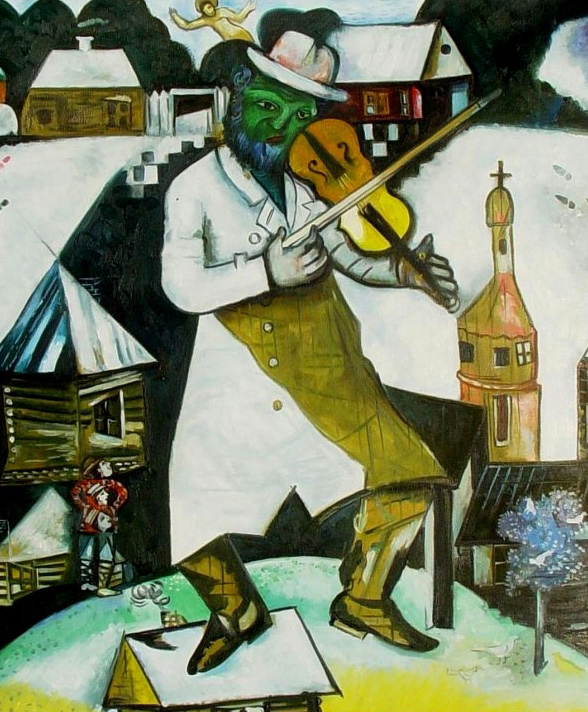 Marc Chagall. 'The Fiddler' 1912