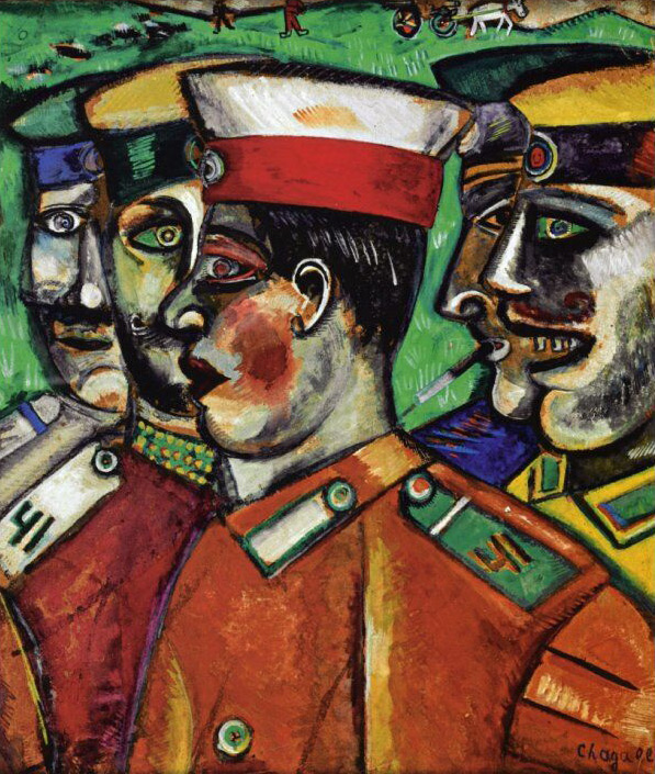 Marc Chagall. 'Soldiers' 1912