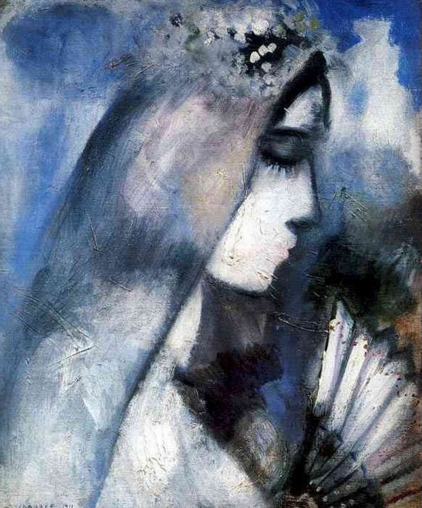 Marc Chagall. 'Bride with Fan' 1911