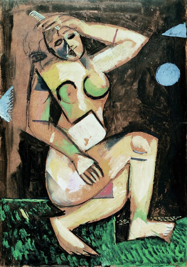 Marc Chagall. 'Nude with comb' 1911-1912