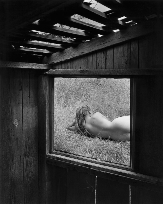 Wynn Bullock (American, 1902–1975) 'Barbara through Window' 1956