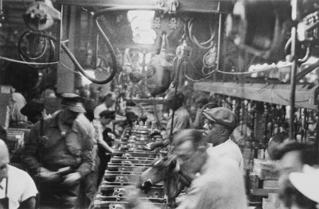 Robert Frank. 'Assembly line, Detroit' 1955-56