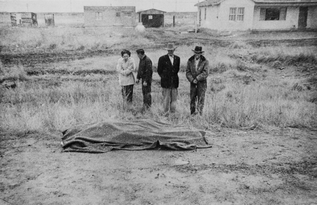 Robert Frank. 'Car accident, US 66 between Winslow and Flagstaff, Arizona' 1955-56