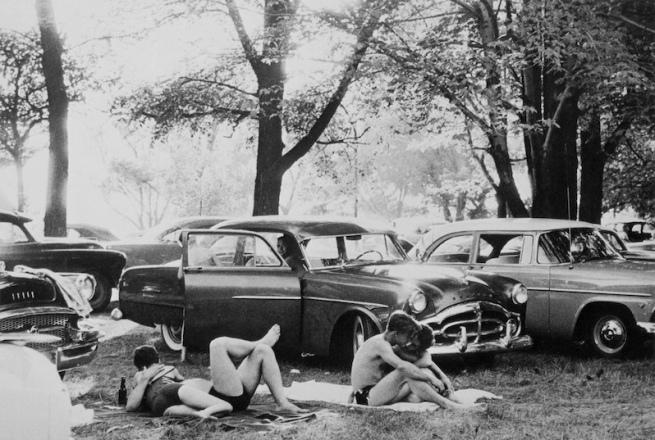 Robert Frank. 'Public park - Ann Arbor, Michigan' 1955