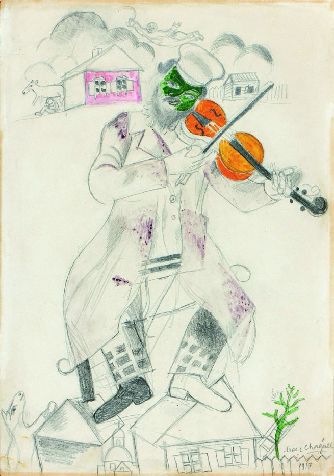 Marc Chagall. 'Study for The green violinist' 1917