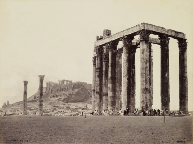 Francis Bedford (1815-94) (photographer) 'Acropolis and Temple of Jupiter Olympus [Olympieion, Athens]' 31 May 1862