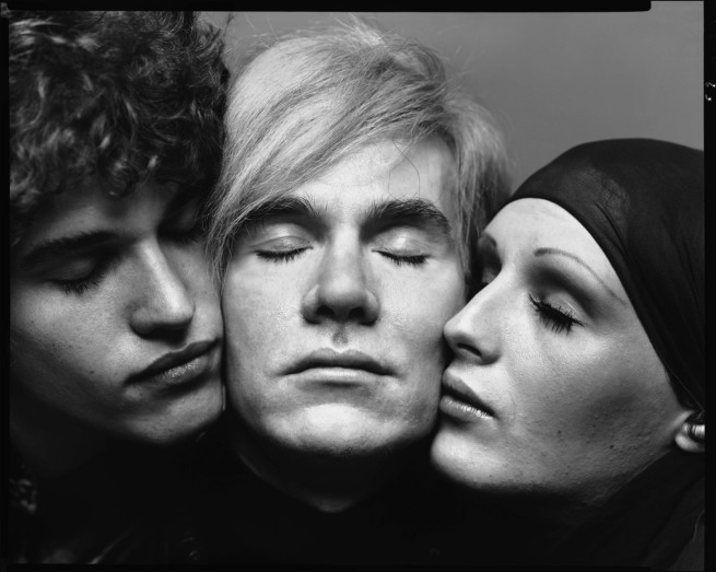 Richard Avedon. 'Andy Warhol, artist, Candy Darling and Jay Johnson, actors, New York, August 20, 1969' 1969