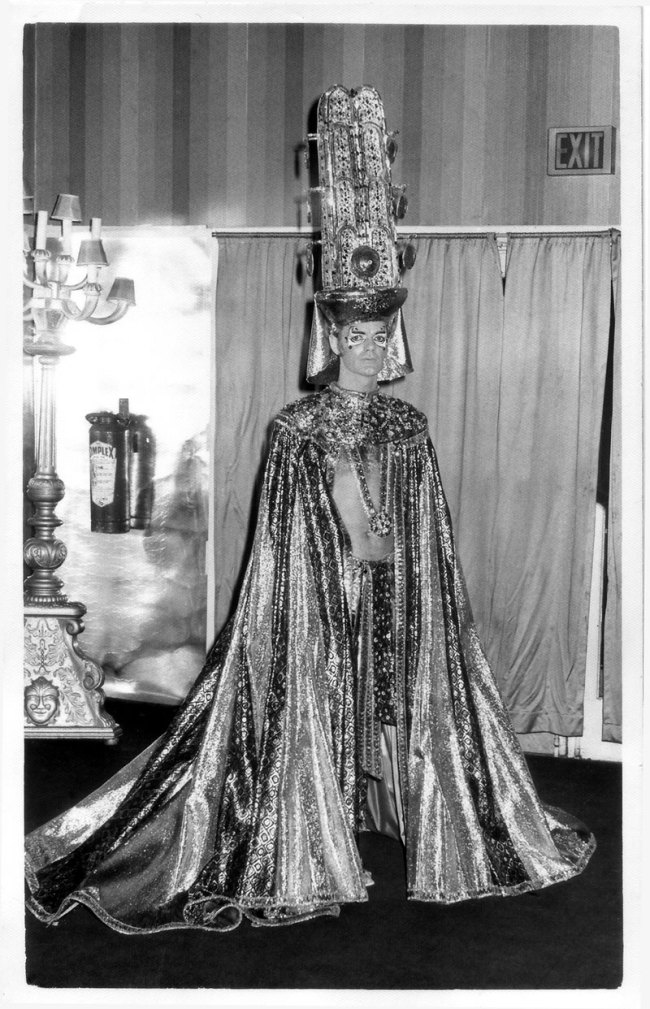 Unknown photographer. 'Arts Ball, Palais de Danse - John Anderson as Sun God' c. 1963-64