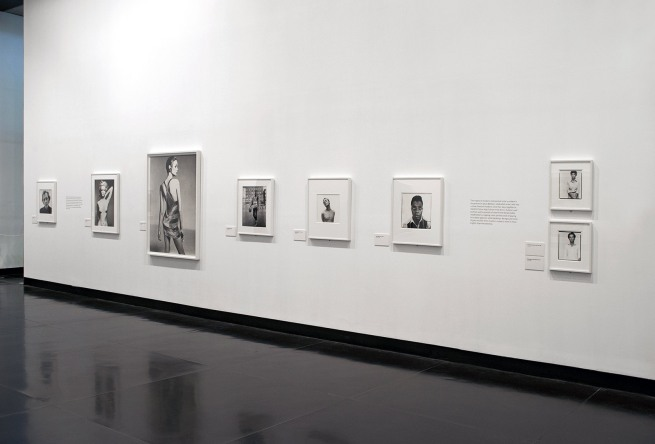 Installation photograph of the exhibition 'Richard Avedon People' at The Ian Potter Museum of Art, Melbourne, February 2015