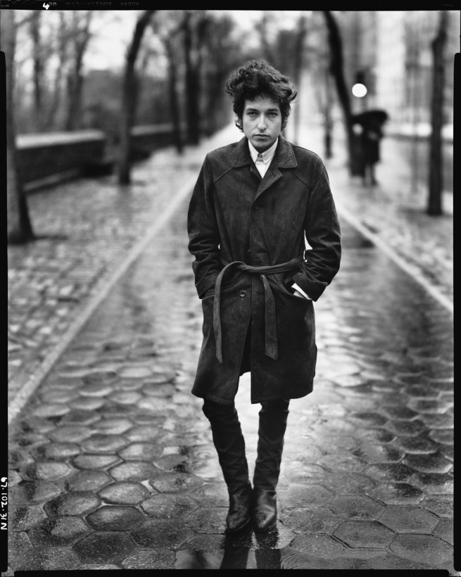 Richard Avedon. 'Bob Dylan, musician, Central Park, New York, February 20, 1965' 1965