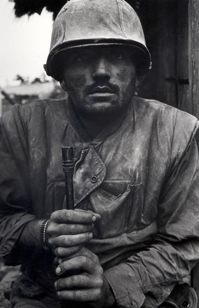 Don McCullin. 'Shell Shocked US Marine, Vietnam, The Battle of Hue' 1968