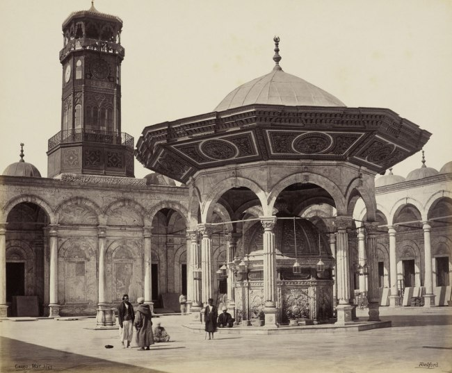 Francis Bedford (1815-94) (photographer) 'Fountain in the Court of the Mosque of Mehemet Ali [Mosque of Muhammad Ali, Cairo]' 3 Mar 1862