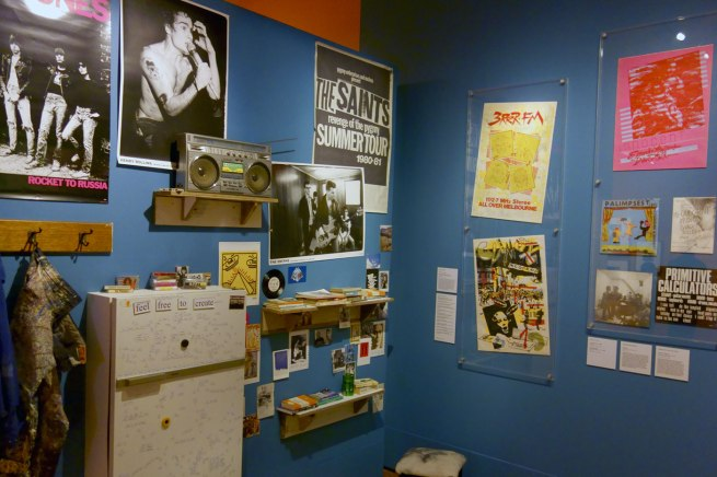 Installation photograph of the exhibition 'Bohemian Melbourne' at the State Library of Victoria February 2015