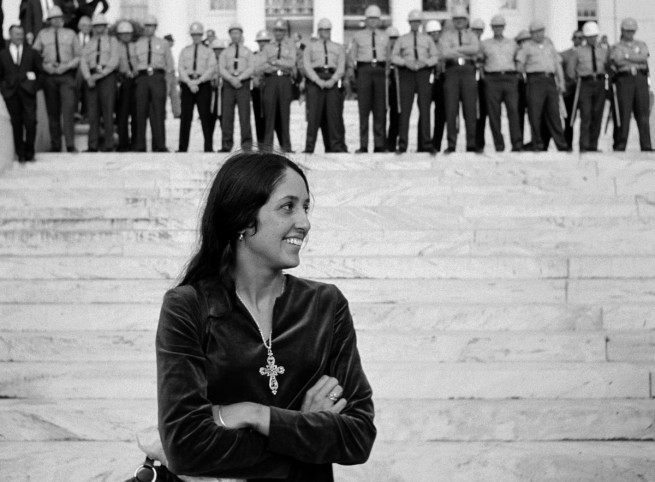 Stephen Somerstein. 'Folk singer Joan Baez in Montgomery' 1965