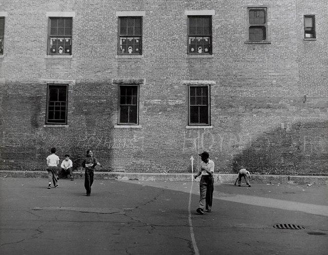 Jules Aarons (1921-2008) 'School Yard, Boston' 1950