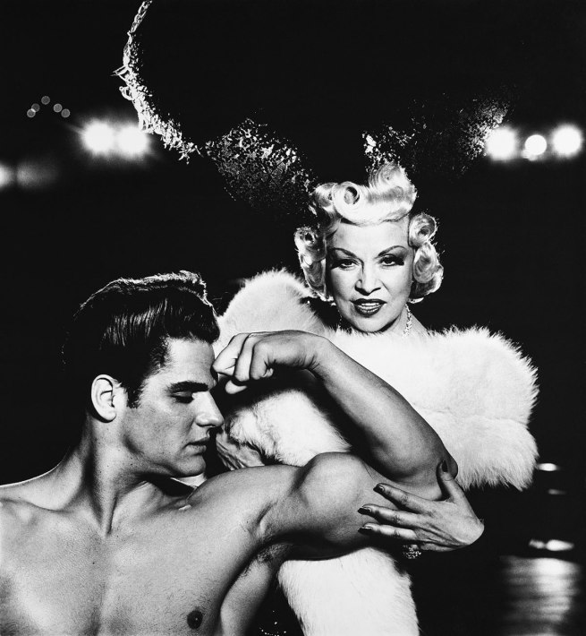 Richard Avedon. 'Mae West, actor, with Mr. America, New York' 1954
