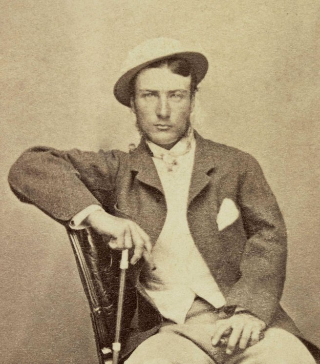 Unknown photographer. 'Marcus Clarke' (detail) 1866