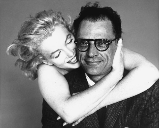 Richard Avedon. 'Marilyn Monroe and Arthur Miller, New York, May 8, 1957' 1957