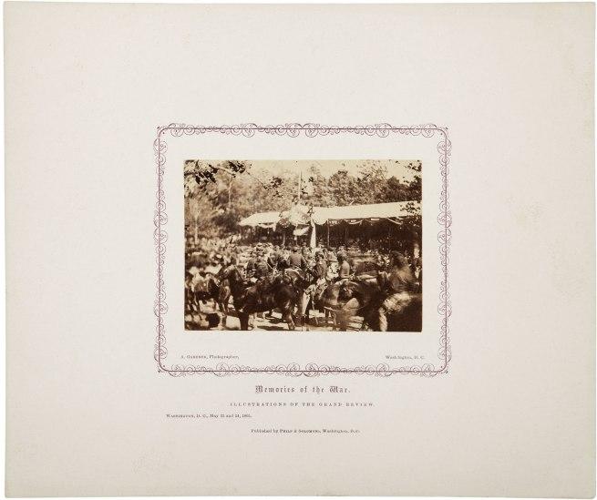 Alexander Gardner: 'Memories of the War. Illustrations of the Grand Review' 1865