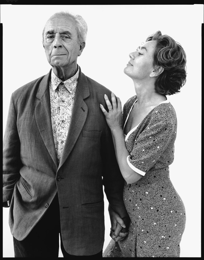 Richard Avedon. 'Michelangelo Antonioni, film director, with his wife Enrica, Rome, 1993' 1993
