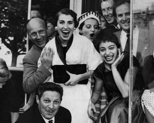Unknown photographer. 'Opening of Mirka Café' (detail) 1954