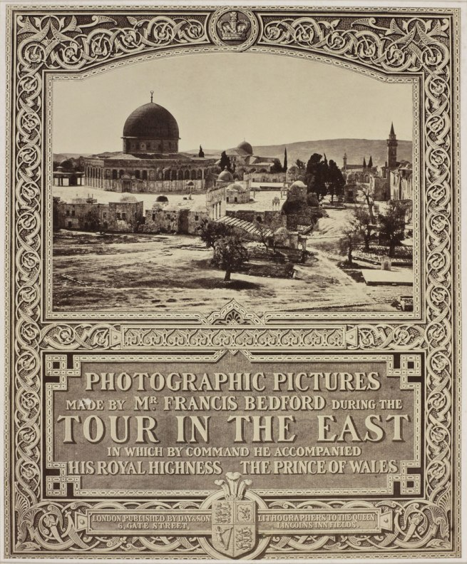 Francis Bedford (1815-94) (photographer) Photographic title page: 'Photographic Pictures made by Mr Francis Bedford during the Tour in the East' 1862
