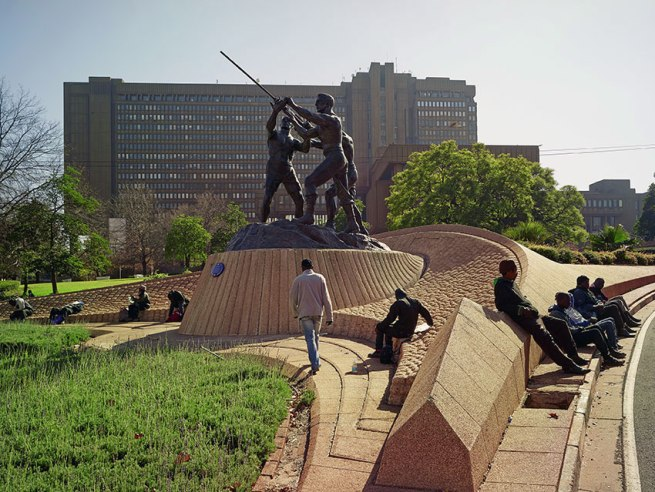 Pieter Hugo. 'The Miners' Monument, Braamfontein' 2013