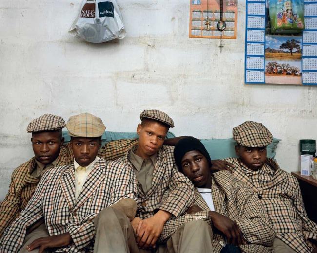 Pieter Hugo. 'Loyiso Mayga, Wandise Ngcama, Lunga White, Luyanda Mzanti and Khungsile Mdolo after their initiation ceremony, Mthatha' 2008
