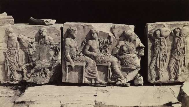 Francis Bedford (1815-94) (photographer) 'Portions of the Frieze of the Parthenon [Athens, Greece]' 31 May 1862