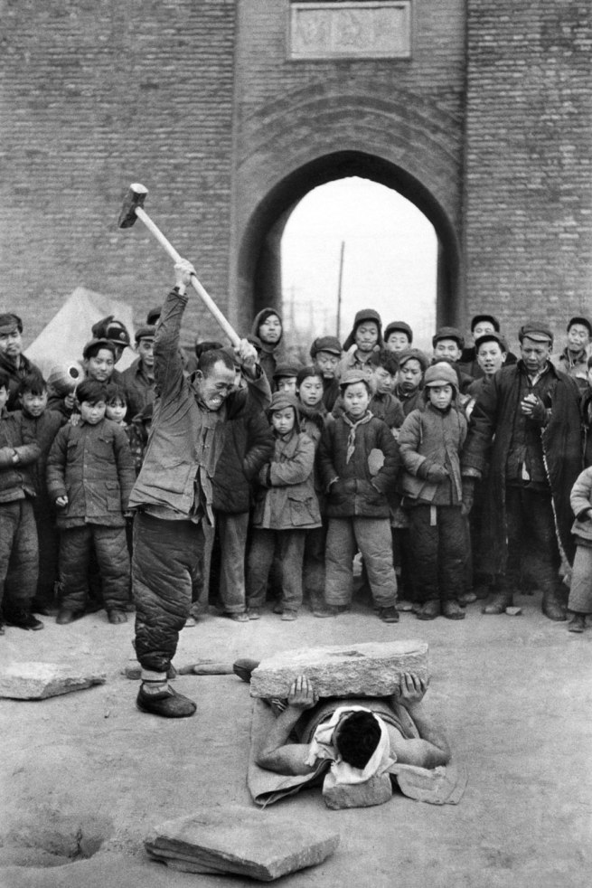 Marc Riboud (French, b. 1923) 'Street Show' Beijing, China, 1957
